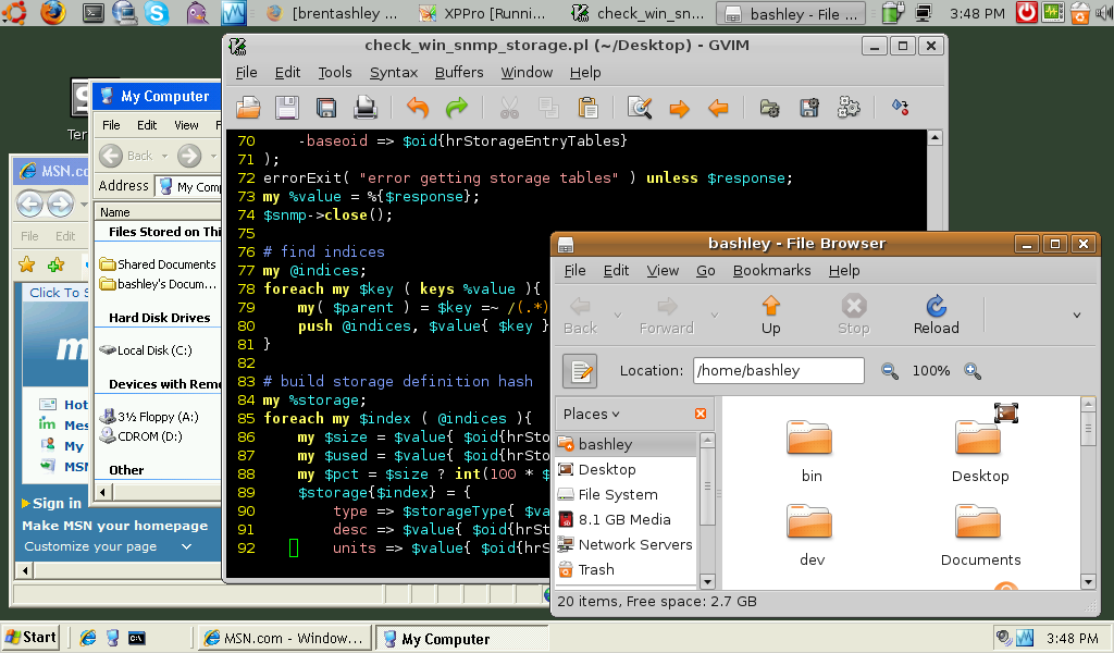 Ubuntu and XP together on the AspireOne - click for full pic